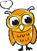 Owl tilted orange to left