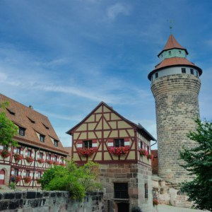 Aufnahme von der Kaiserburg Nürnberg